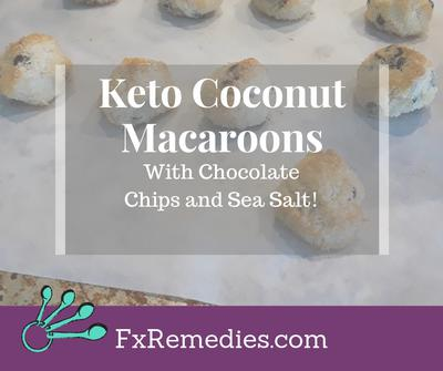 Keto Coconut Macaroons With Chocolate Chips And Sea Salt